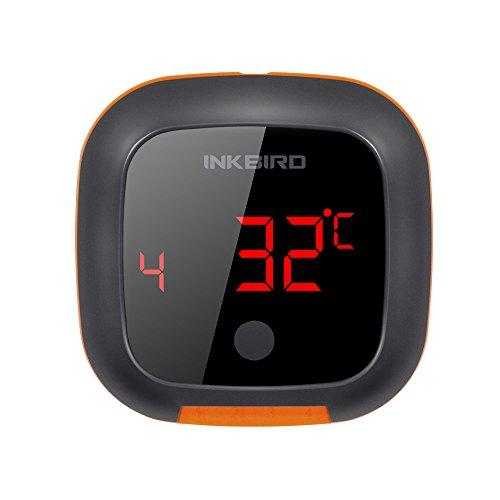 Inkbird Bluetooth BBQ digital Lesen Bildschirm Thermometer Magnet Grill Timer Thermometer für Küche und Fleisch Anzug für Android und IOS Smartphone System (IBT-4XS + 2 Temperatursonden)