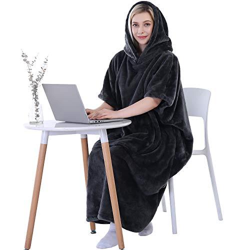 Waitu Wearable Blanket Sweatshirt for Working and Cooking, Super Warm and Cozy Big Blanket Hoodie...