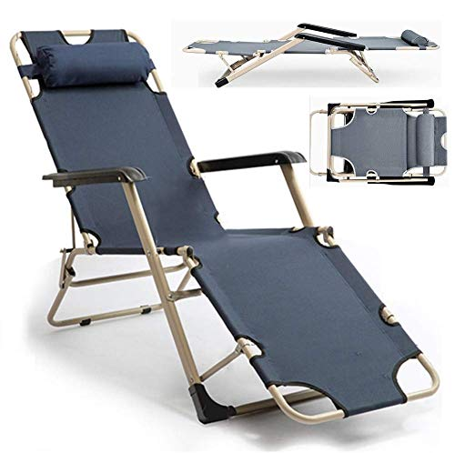 Fswallow Sun Lounger, Sunbed, Reclining Sun Chair, Folding Lounger Chair Portable Breathable Adjustable Backrest Beach Garden Sunloungers Outdoor Patio Lightweight Reclinergrey