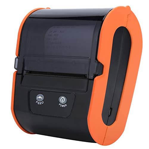 Ccylez Etichettatrice Bluetooth, Stampante Termica per Etichette 80MM 203 DPI Stampante per ricevute di Etichette Termica Bluetooth Portatile USB per QR Xode, Testo, Motivo, Carattere(Arancia)