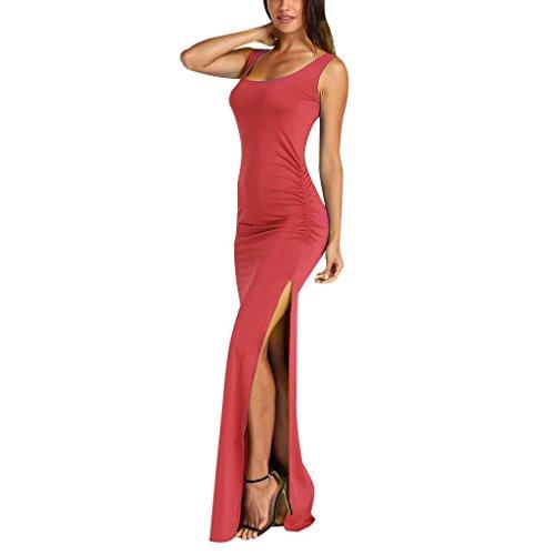 iHENGH Karierter braun Skater Abendkleid laona Ever Pretty rote Hochzeit sexy Boho Dark pink plissierter Damen v Ausschnitt a-Linie Kleid träger rückenfreies