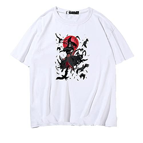 SHIQI-DYMX Naruto Camisetas Divertidas De Estilo Vintage, Camiseta De Algodón para Hombre, Camisetas De Anime, Ropa De Calle,M