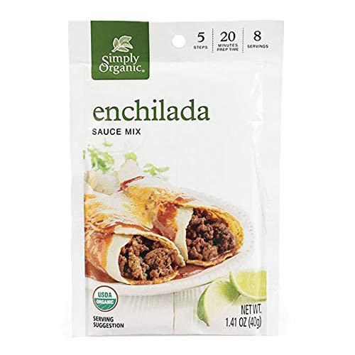 Simply Organic Enchilada Sauce, Certified Organic, Gluten-Free | 1.41 oz | Pack of 3