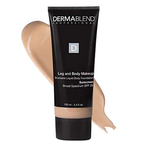 Dermablend Leg and Body Makeup Foundation with SPF 25, 10N Fair Ivory, 3.4 Fl. Oz.