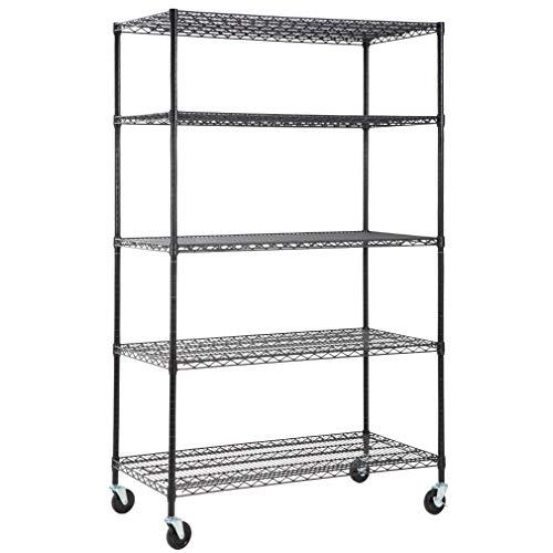 5-Wire Shelving Unit Steel Large Metal Shelf Organizer Garage Storage Shelves