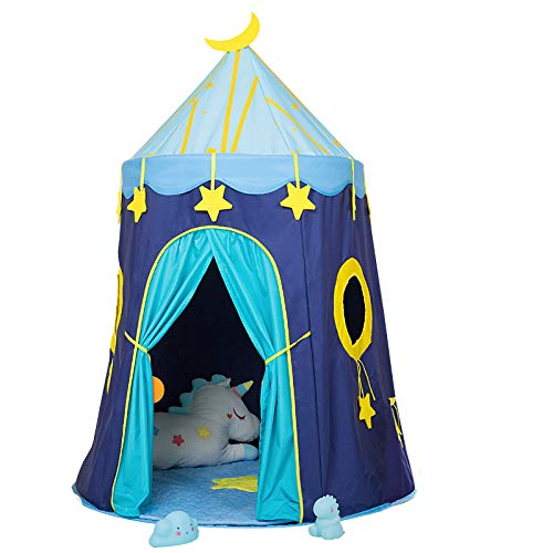 YUANYI Teepee Tent For Kids/Girl Play Tent Toys For Girls/Boys Indoor And Outdoor, Playhouse Toy Children India Tipi Tent,Blue