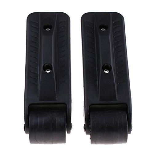 N/A/a 1 Par de Ruedas de Equipaje de Repuesto Negras Ruedas Giratorias - 18x4cm