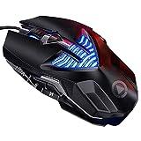 VVXXMOR Atón Mecánico para Juegos con Cable, Ratón Luminoso De Galvanoplastia Macro, Accesorios para Ordenador Portátil De Escritorio
