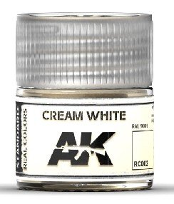 RC002 | AK Interactive Real Colors: Cream White RAL 9001 | 10...