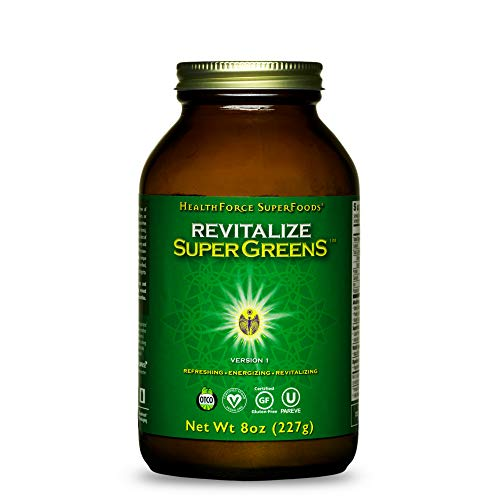 HealthForce SuperFoods Revitalize SuperGreens - 8 oz Powder - Natural Green Superfood Complex with Antioxidants - Supports Healthy Inflammatory Response - 30 Servings