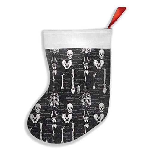 N A Dark Skeleton Anatomía Calcetines de Navidad Decoraciones Mini Medias de...