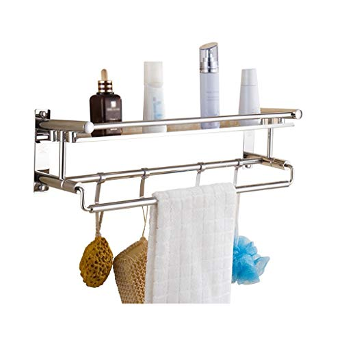 WSJF Zelfklevende handdoekhouder badkamer plank handdoekhouder bar wandbehang met haak en handdoekhouder badkamer opslagrek