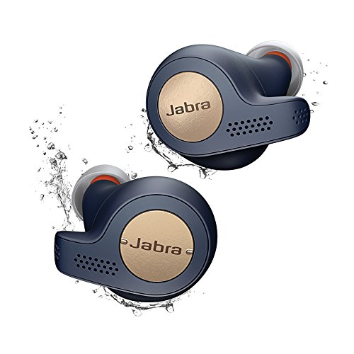 Jabra Elite Active 65t Alexa Enabled True Wireless Sports Earbuds with Charging Case – Copper Blue (Renewed)