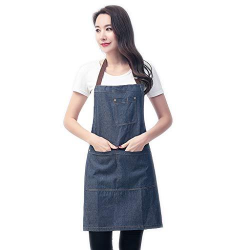 Schort comfortabele jurk dames home keuken lange mouwen waterdicht en oliebestendig mannen en vrouwen jeans overalls thuis