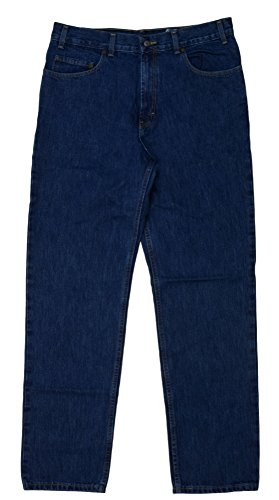 Kirkland Signature Jeans Mens Regular Fit Pants Drak Wash (32 x 34, Dark Wash Blue)