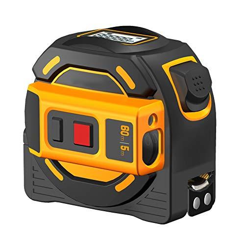 JEZZ Misuratore di Distanza Laser 40m 60m 60m Campo Laser Finder Nastro Laser Misura Digital Retrattile 5M Laser RangeFinder Righello Sondaggio (Size : 40M)