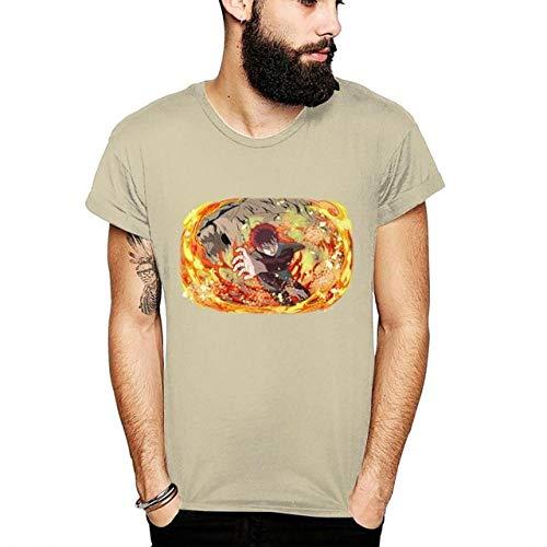 TSHIMEN Camisetas Hombre Rock Grupos Naruto Anime Camiseta Personalizada gráfico impresión Homme Camiseta Unisex Hombre 3D impresión Camiseta Beige XXL