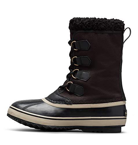 Sorel - Men's 1964 Pac Nylon Snow Boot for Winter, Black/Ancient Fossil, 12 M US