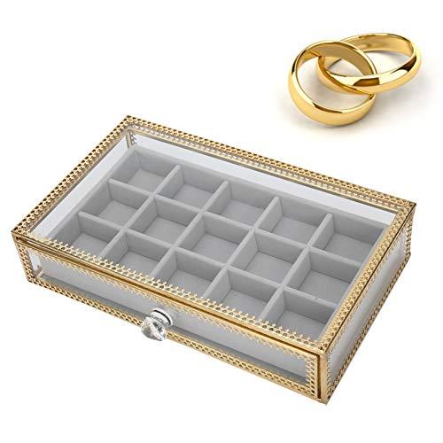 Caja de Almacenamiento para Decoración de Uñas con 15 Rejillas, Cajas de Joyería, Caja de Almacenamiento para Decoración de Uñas Tipo de Cajón Organizador de Joyas para Accesorios de Uñas Organizad