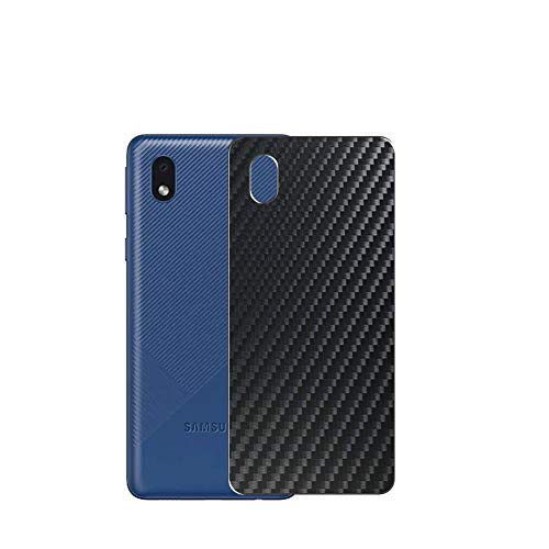 VacFun 2 Piezas Protector de pantalla Posterior, compatible con SAMSUNG Galaxy A3 Core, Película de Trasera de Fibra de carbono negra