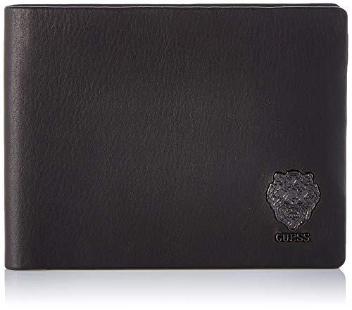 Guess - Lion Bold, Carteras Hombre, Negro (Black), 0.5x7.5x10 cm (W x H L)