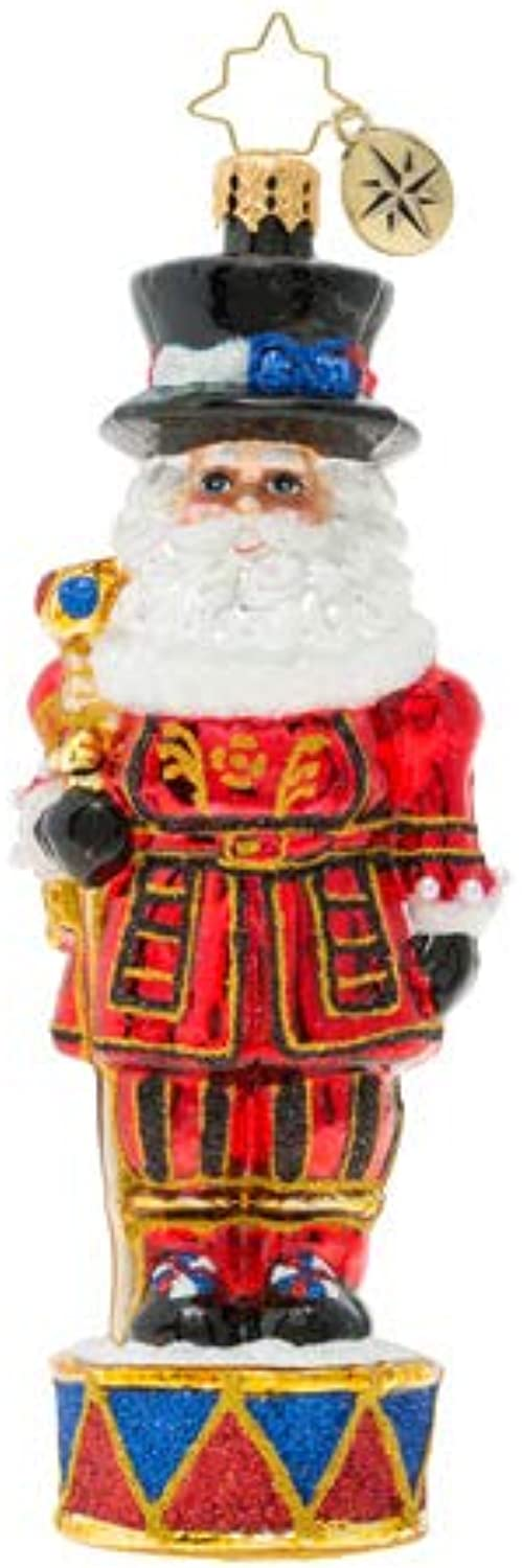 Christopher Radko Royal Beefeater Santa Guard Christmas Ornament, Multicolor