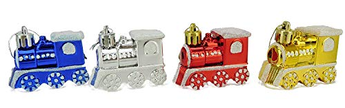 Christmas Concepts Pack Of 4-60mm Train Shaped Christmas Tree Baubles