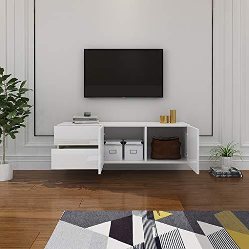 Mueble TV de pared Estante de la pared Estante flotante Decodificador enrutador Sky box Marcos de fotos Trofeo cosmético caja de almacenaje Consola multimedia TV Con cajon Gran espacio