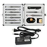 NovelLife TS100 65W Mini Electric Soldering Iron Kit,Adjustable Temperature,Digital OLED Display with 24V Power Supply,9pcs Soldering Iron Tip XT60 Cable Aluminum Tool Box