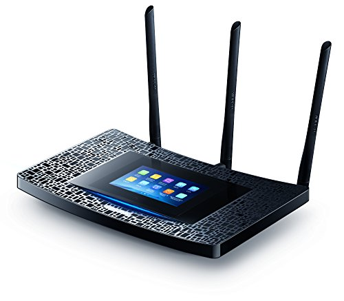 Product Image 1: TP-Link AC1900 Desktop Wi-Fi Range Extender w/ Touchscreen Interface (RE590T)