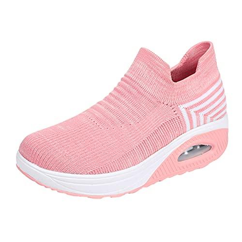 Zapatillas deportivas de verano para mujer, de malla transpirable con suela suave, antideslizantes, para actividades al aire libre, senderismo, etc., color, talla 37 EU