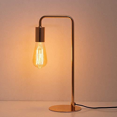 Vintage Tischlampe - Stilvolle industrielle Nachttischlampe, Nachttischlampe für Büro, Schlafzimmer, Wohnzimmer - Messing