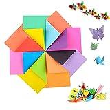 240 Hojas de Doble Cara de Papel para Origami en 8 Colores Surtidos, Origami Cuadrado, Origami de Color/Papel Decorativo Hecho a Mano para Niños/Clase de Manualidades Escolares - 15x15cm
