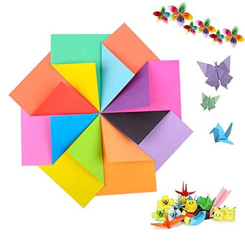 240 Blatt Doppelseitiges Origami, Farb Origami Set, Dekoratives Büttenpapier, DIY Farbpapier für Kinder und Erwachsene, Handwerkliches Faltpapier,Multifunktionales Origami,15 x 15 cm