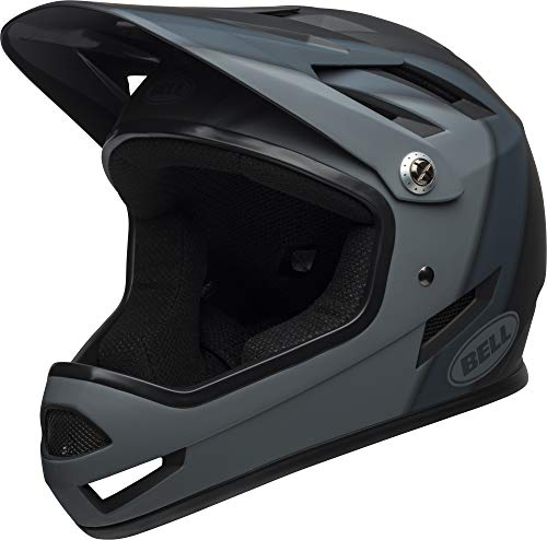 BELL Unisex's Sanction MTB Full Face Helmet, Presences Matte Black, Medium/55-57 cm