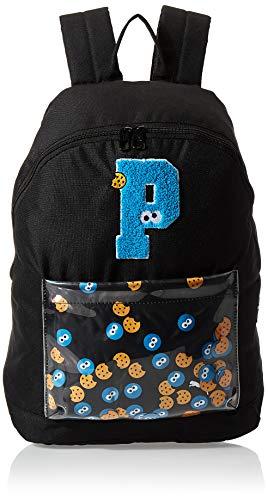 PUMA Unisex Jugend Sesame Street Backpack Sport Rucksack, Black, OSFA