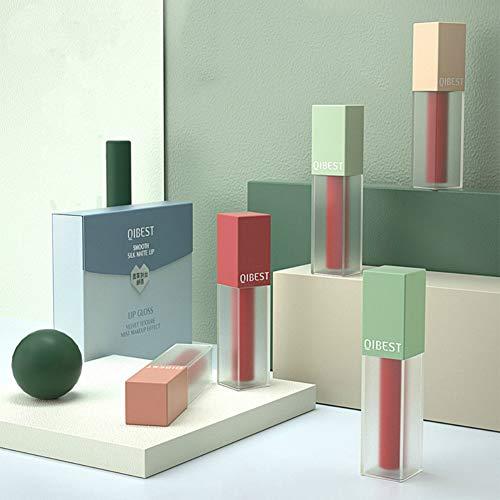 QIBEST 5 Farben Matt Liquid Lipstick Set Antihaft Tasse Wasserdicht Langlebiger Lipgloss