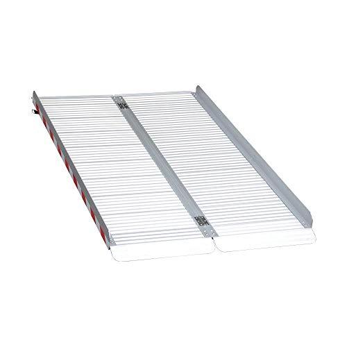 LIEKUMM Rampa de aluminio plegable para escaleras, umbral de puerta, etc., superficie antideslizante, capacidad de carga de 360 kg (MR607X-5) (150 x 85 x 7 cm)