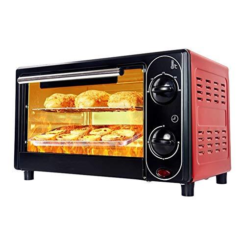 Pot 1200 W Multifuncional Mini cocina automática escritorio horno eléctrico, acero inoxidable y transparente puerta de cristal, rápida y uniformidad de cocción, fácil de limpiar