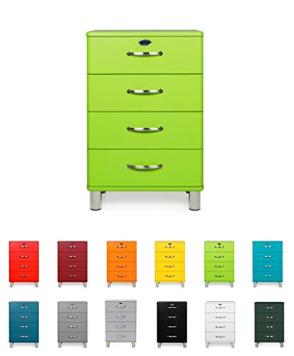 Tenzo 5116-021 Malibu - Designer Kommode 92 x 60 x 41 cm, MDF lackiert, grün
