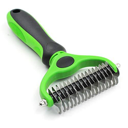 YABAISHI Licht en snel Pet Hair Comb Comb Stainless Steel Dubbelzijdig Blade Hond Kat Grooming (Color : Green)