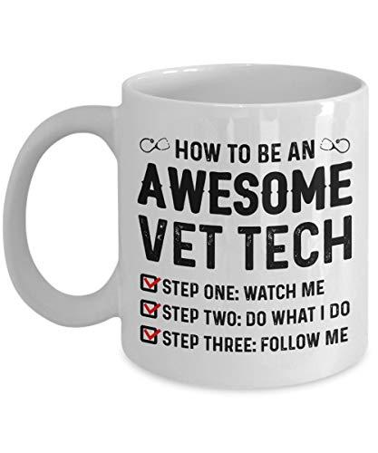 Come Essere una fantastica Tazza da caffè in Ceramica con tecnologia Veterinaria | Miglior Giornata Veterinaria Mondiale, Regalo di Compleanno per Veterinario, Papà, Mamma, Ragazzo, Ragazza - Bianco