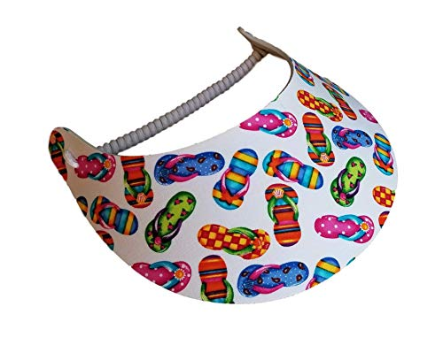 The Incredible Sunvisor Assorted Novelty Patterns Perfect for Summer! Made in The USA!! (FLIP Flops 4)
