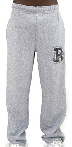 REDRUM Jogginghose Sweatpants Sport Hose Schwarz o Grau - Modell Roma (M, Grau)