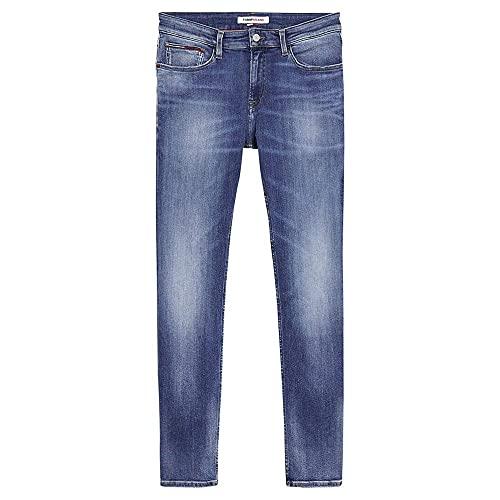 Tommy Jeans Hombre SCANTON SLIM QMBST Pantalones, Queens Mid Blue Str, W31/L32
