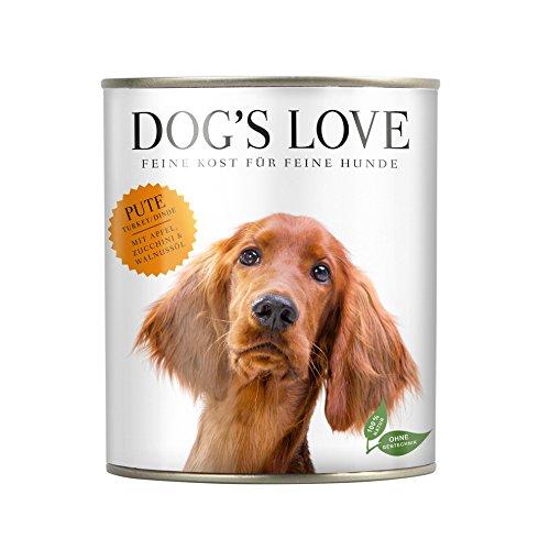 Hundefutter nass Sensitive - optimal an den Nährstoffbedarf des Hundes angepasst mit hohem Fleischanteil & Vitaminen - von Veterinären geprüft – Pute Adult (6 x 800g)