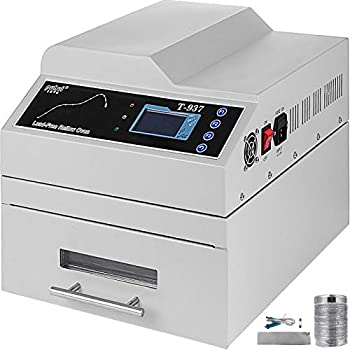 Happybuy Reflow Oven T937 110V Reflow Soldering Machine 2300W 300 x 310 mm Professional Infrared Heater Soldering Machine Automatic Reflow Machine  T937 110V