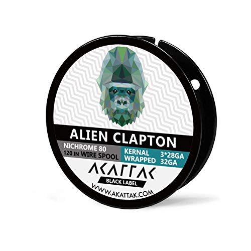Alien Clapton Spool Nichrome 80 Prebuilt Ni 80 Wirespool 10 Ft / 120 Inch by AKATTAK