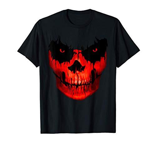 Totenkopf Skull Schwarz Düster Grusel Skulls T-Shirt