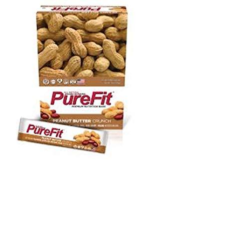 PureFit Peanut Butter Crunch Premium Nutrition Bars, 15 Count | 18G Protein, Performance Enhancement & Energy Bar – Gluten Free, Dairy Free, Low Carb, Vegan| 1.75/bar